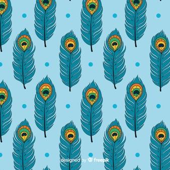 Bellissimo motivo di piume di pavone