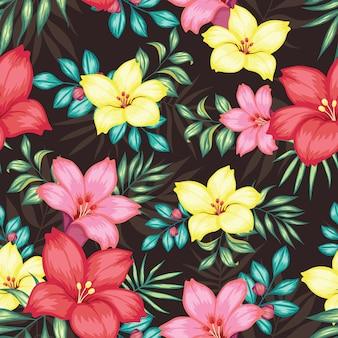 Bellissimo motivo floreale vintage senza soluzione di continuità