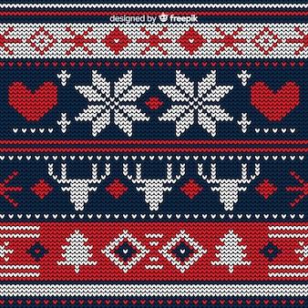 Bellissimo motivo natalizio lavorato a maglia