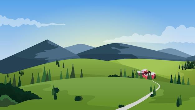 Bellissimo paesaggio di campagna