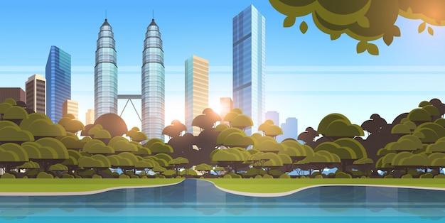 Bellissimo panorama della città