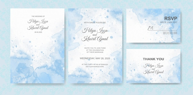 Bellissimo sfondo acquerello carta di nozze