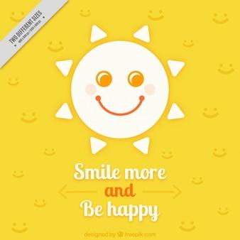 Bellissimo sfondo con la frase fantastico e sole sorridente