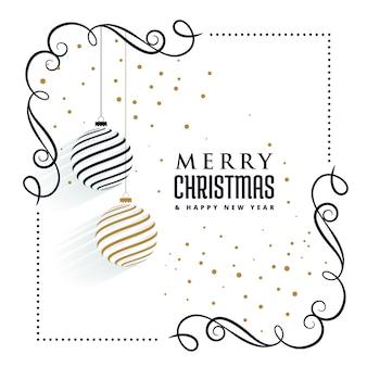 Bellissimo sfondo di elementi decorativi ornamenti di Natale