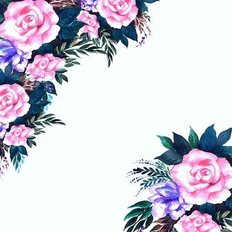 Bellissimo sfondo di fiori decorativi
