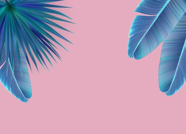 Bellissimo sfondo di foglia di palma.