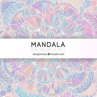 Bellissimo sfondo di mandala in colori tenui