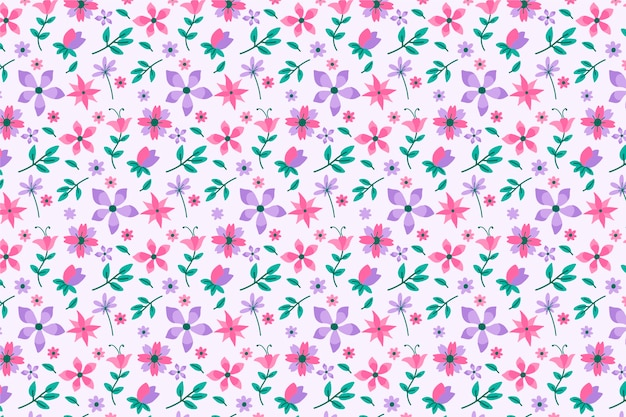 Bellissimo sfondo floreale ditsy