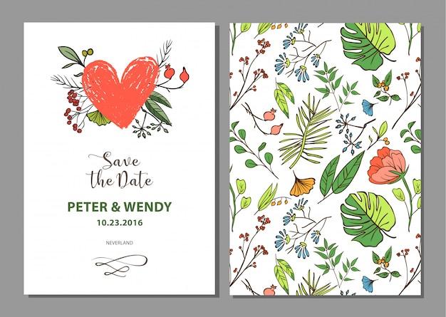 Bellissimo sfondo floreale elemento per design o carta di invito