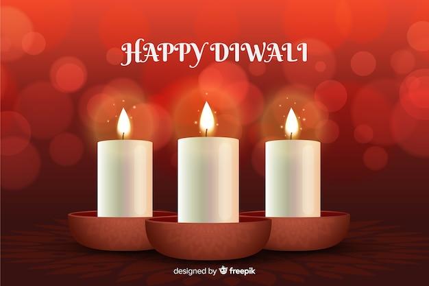 Bellissimo sfondo realistico di diwali