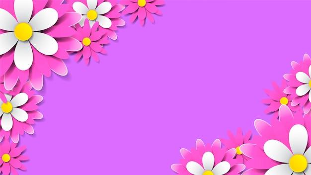 Bellissimo sfondo rosa floreale