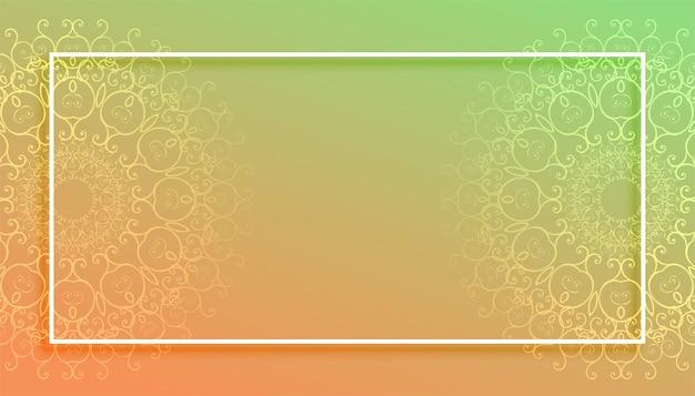 Bellissimo sfondo stile mandala con lo spazio del testo