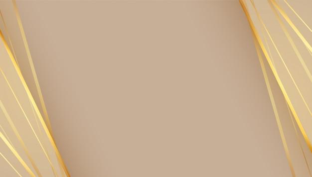 Bellissimo sfondo vuoto con linee dorate