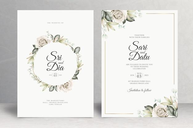 Bellissimo tema floreale della carta di nozze