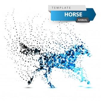Bello cavallo - illustrazione astratta del punto.