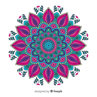 Bello e colorato sfondo di mandala