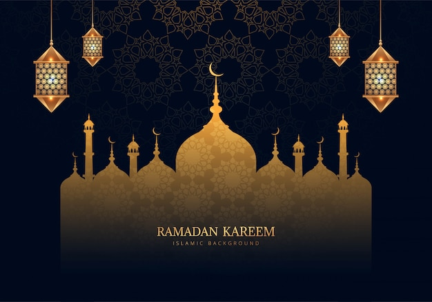Bello fondo della carta di celebrazione del kareem del ramadan