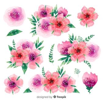 Bello fondo della raccolta del mazzo floreale
