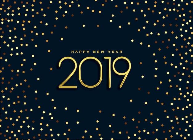 Bello fondo di scintillio dorato 2019