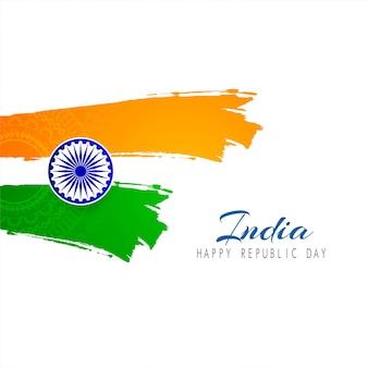 Bello fondo di vettore di tema della bandiera indiana