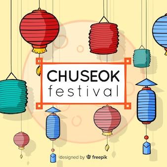 Bello fondo disegnato a mano del chuseok
