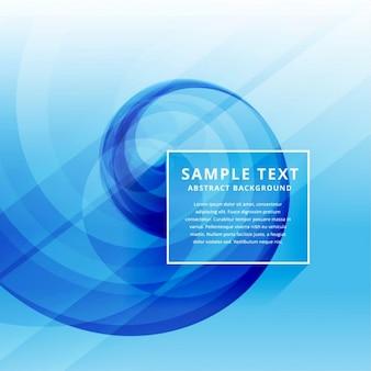 Bello minimo blu ondata di progettazione di business pulito