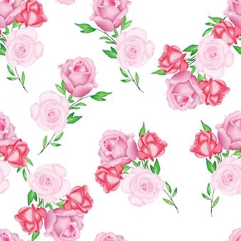 Bello modello floreale della partecipazione di nozze dell'acquerello
