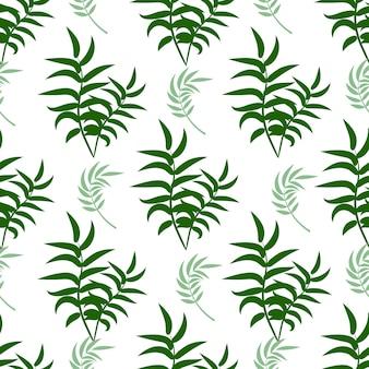 Bello modello floreale di estate di vettore senza cuciture con le foglie di palma tropicali.