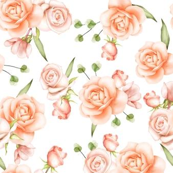 Bello modello senza cuciture floreale dell'acquerello