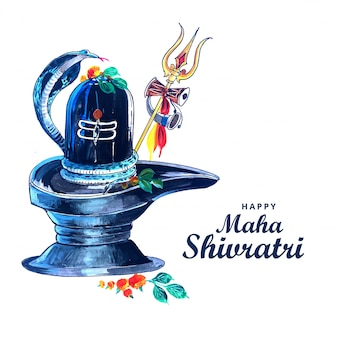 Bello realistico shiva shivling per il festival maha shivratri