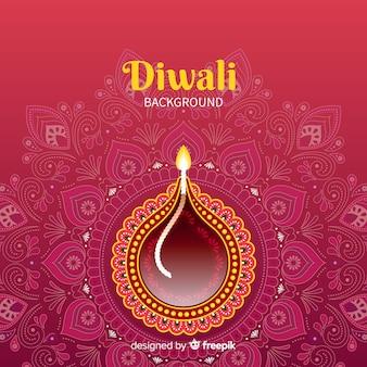 Bello sfondo di diwali con design piatto