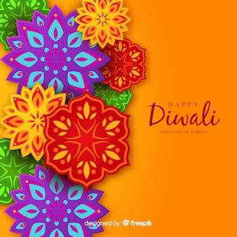 Bello sfondo di diwali con stile origami