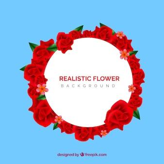 Bello sfondo floreale con stile realistico