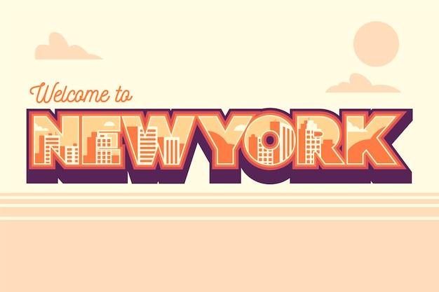 Benvenuti a new york lettering