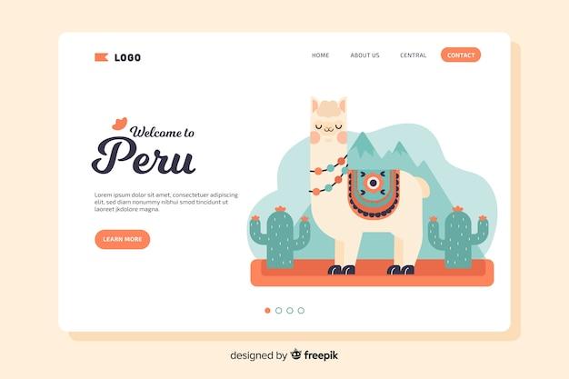 Benvenuti alla pagina di destinazione peru