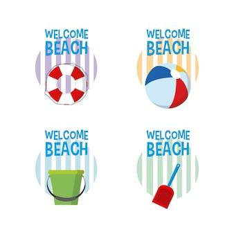 Benvenuti in cartoni animati sulla spiaggia