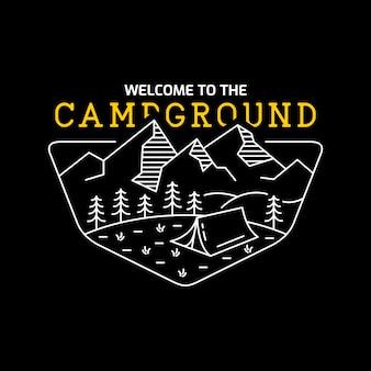 Benvenuti in the campground