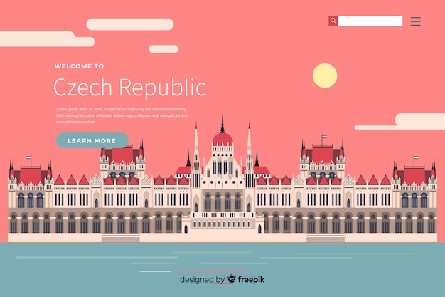 Benvenuti nel modello della pagina di destinazione della repubblica ceca