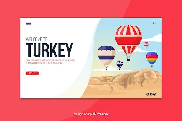 Benvenuti nel modello della pagina di destinazione della turchia