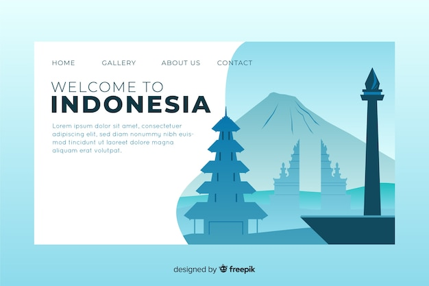 Benvenuti nel modello di landing page in indonesia