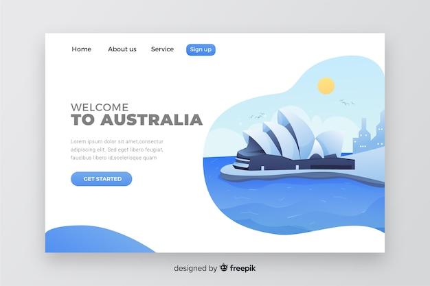 Benvenuti nella landing page in australia