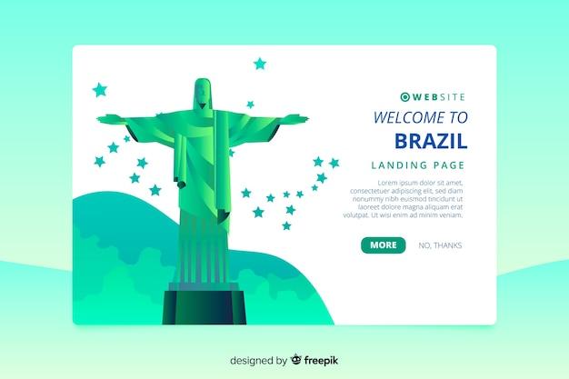 Benvenuti nella pagina di destinazione del brasile