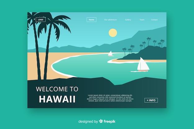 Benvenuti nella pagina di destinazione delle hawaii