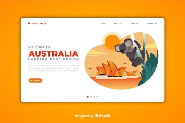 Benvenuti nella pagina di destinazione in australia