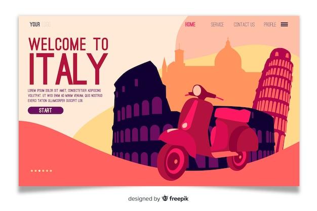 Benvenuti sulla landing page in italia