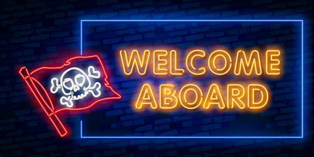 Benvenuto al neon text