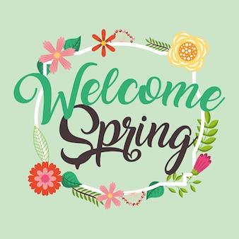 Benvenuto carta di primavera