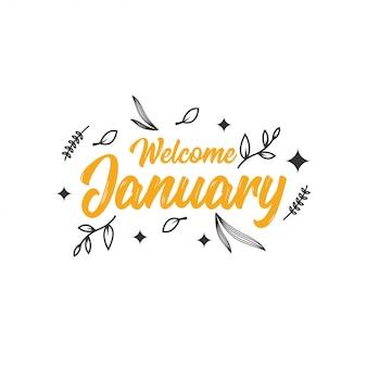 Benvenuto design di gennaio