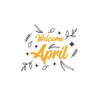 Benvenuto illustrazione di aprile