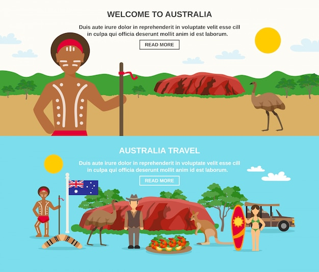 Benvenuto in australia banners